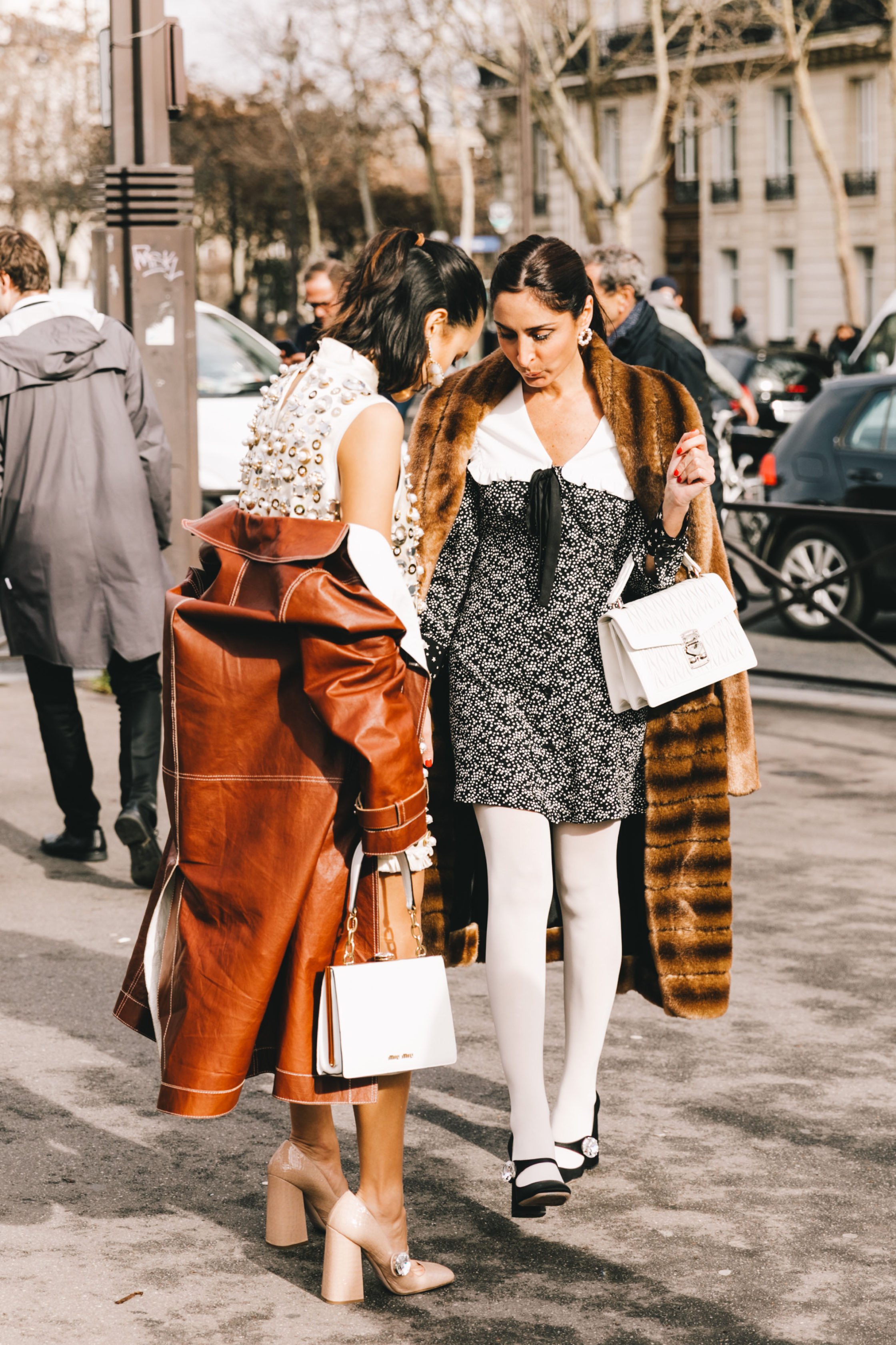 Miu Miu Street Style Paris Fashion Week Fall Winter by Collage Vintage